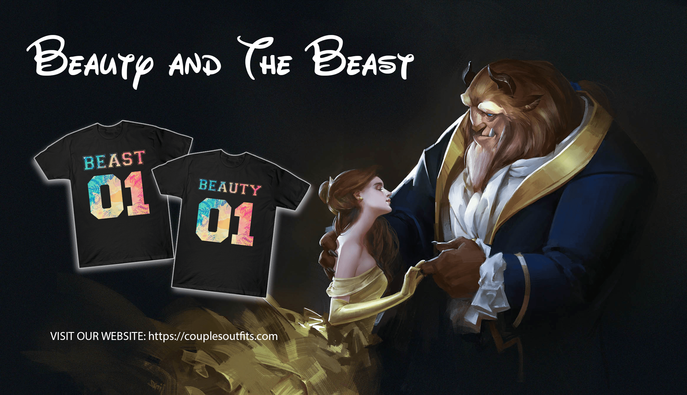 Beauty and The Beast Shirts Banner